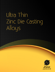 Ultra Thin Zinc Die Casting Alloys Brochure
