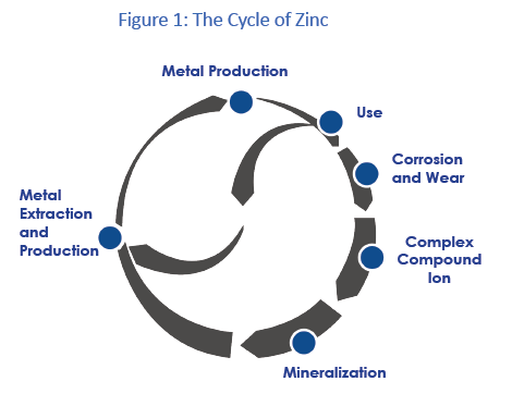 Zinc international zinc association zinc in the environmentzinc zinc released to the environment follows a cycle figure 1 in which zinc from mineral ore bodies is converted through extraction and refining processes ccuart Gallery